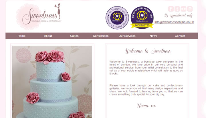 Sweetness Boutique cakes and Confectionery